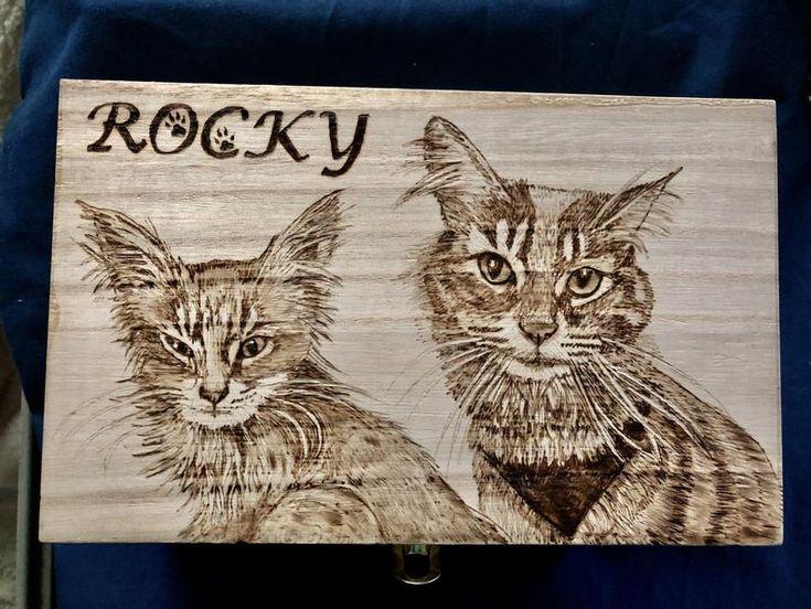 Pet Portrait Wood Burning Art – Custom Pyrography – Animal art – Dogs, cats etc.   – Wood Burning Art