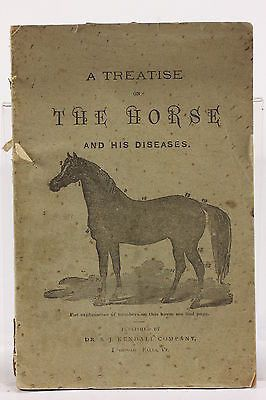A Treatise On The Horse & His Diseases 1901 Publ Dr BJ Kendall Enosburg Falls VT