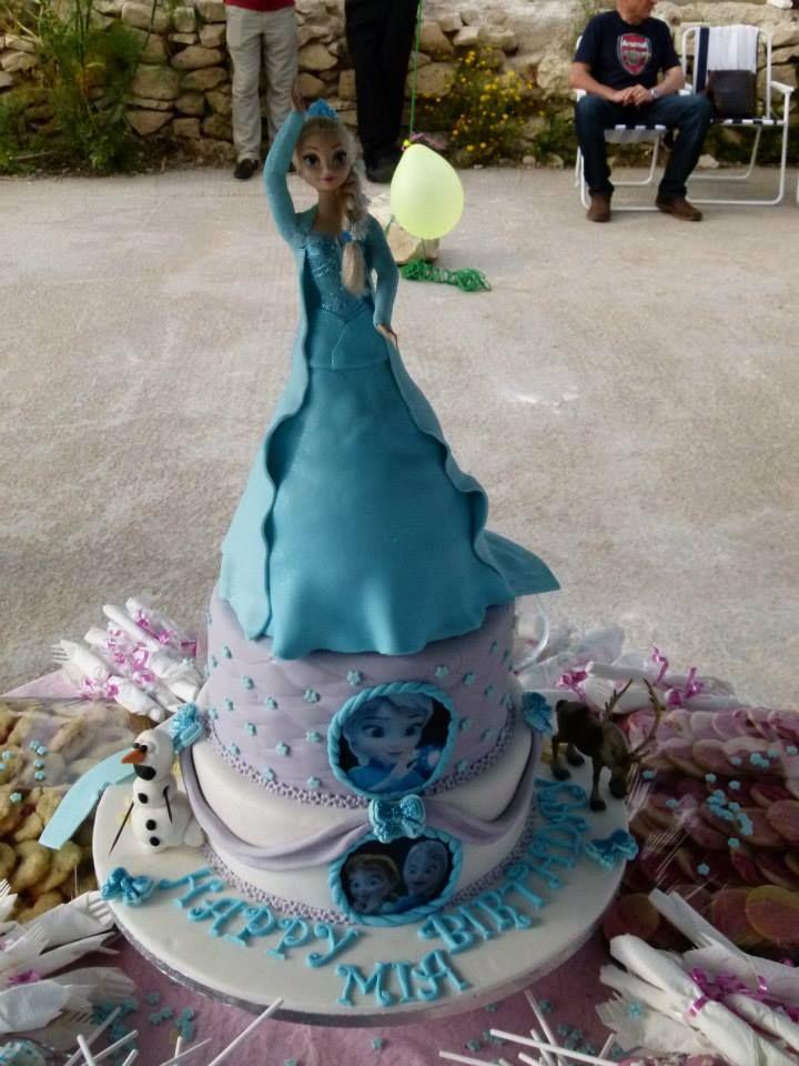 Frozen 3-tier Cake