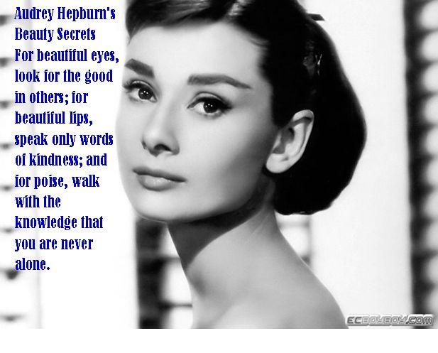 Audrey Hepburns beauty secrets Body Temple Pinterest Beauty Secrets, Audrey Hepburn and