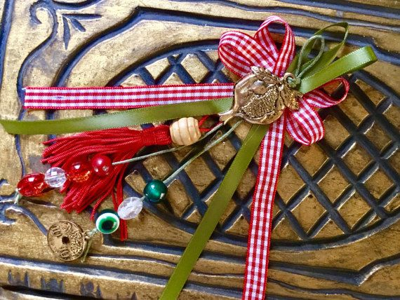 Christmas gift pomegranate small gift lucky by hippiefishbeachart