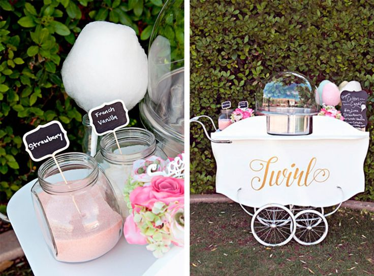 Twirl cotton candy cart with organic, all-natural and gluten free cotton candy. Plus it's adorable!