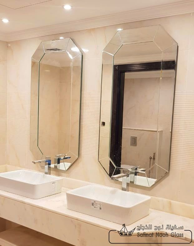 Mirrors Can Add Light To Dark Room And Make Small Space Feel Larger Get Inspired By These Tips On How To Include Mirrors Mirror Bathroom Mirror Custom Mirrors