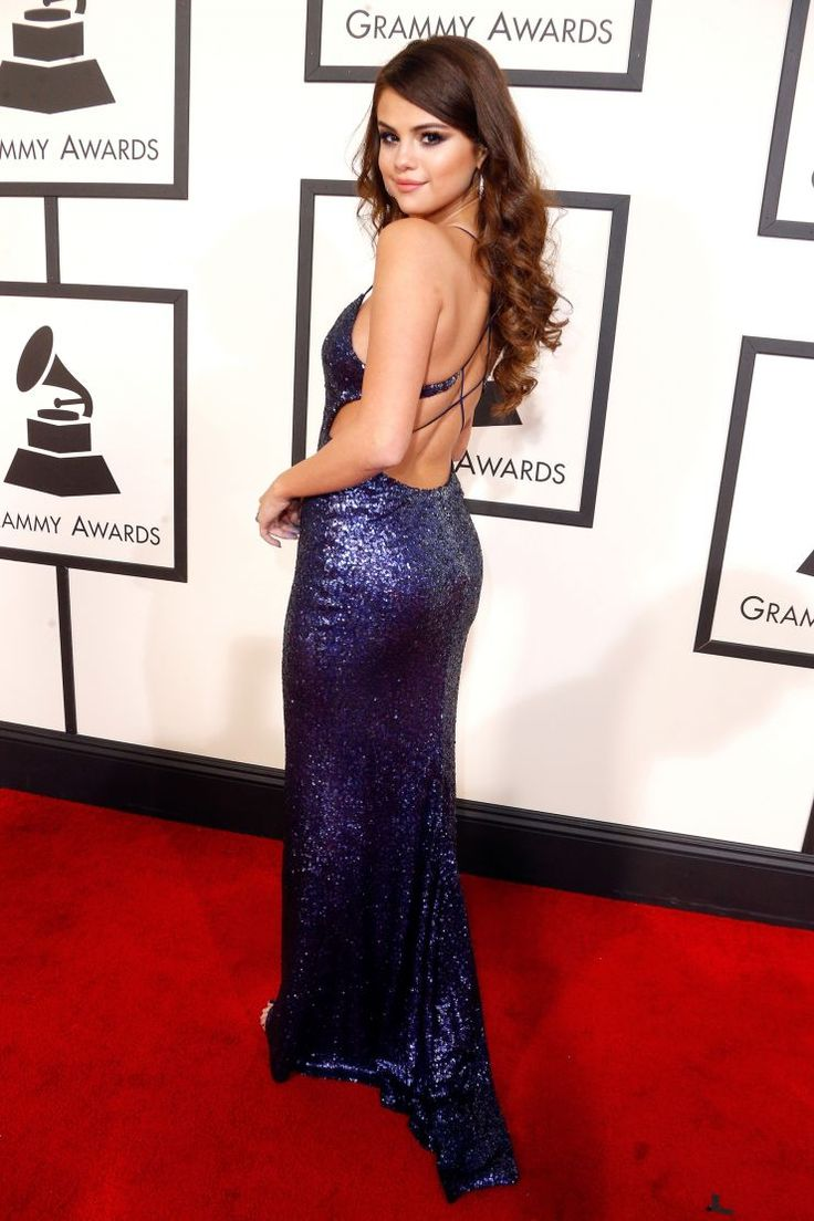 Selena Gomez arrives at the 58th Annual GRAMMY Awards on Feb. 15 in Los Angeles