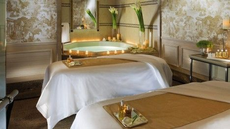 Visit the Spa at Four Seasons Hotel George V, Paris, offering a variety of spa treatments, including body and facial treatments, massages and salon services.