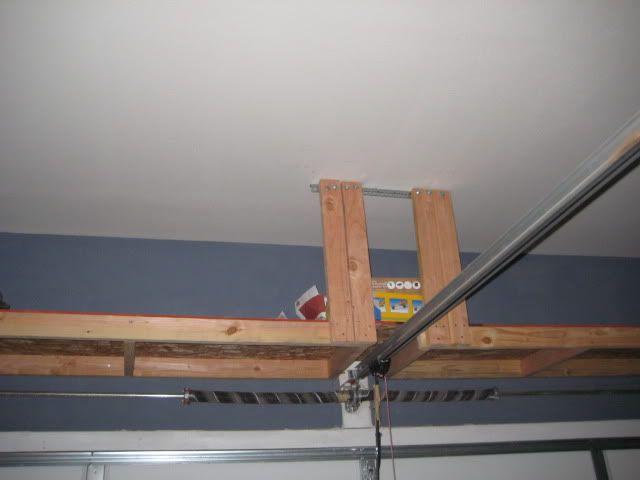 Over the garage storage garage pinterest for Diy garage storage loft