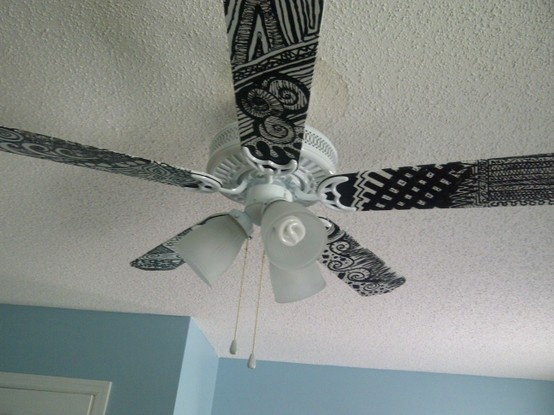 Paper Ceiling Fan : Best painted fan blades images on pinterest blade