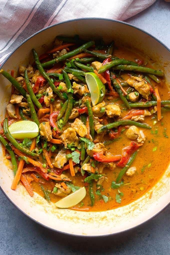 Easy Chicken Vegetable Curry With Coconut Milk Little Broken Recipe Chicken Vegetable Curry Vegetable Curry Chicken And Vegetables