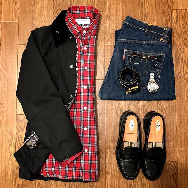 2018/01/03 10:06:16 my128704 Today's clothes. ・BARBOUR_Bedale SL ・JAMES MORTIMER_Acorn Check Shirt ・60's VINTAGE LEVIS_501 bigE ・ALDEN_99267 Calf Penny Loafer ・ROLEX_Sea-Dweller Deep Sea ・HAKUSAN MEGANE_Lindy Arm ・GLEN ROYAL_Fireman Buckle Belt ・ #ootd #ootdmen #coordinate #barbour #jamesmortimer #bige #levis #vintage #vintagestyle #rolex #hakusan #alden #glenroyal #bige #ビンテージ #ヴィンテージ #コーディネート #ファッション #バブアー #オールデン #ロレックス #ジェームスモルティマー #グレンロイヤル #白山眼鏡 #패션 #패션스타그램 #데일리패션 #빈티지 #멋쟁이 #코디 #时尚