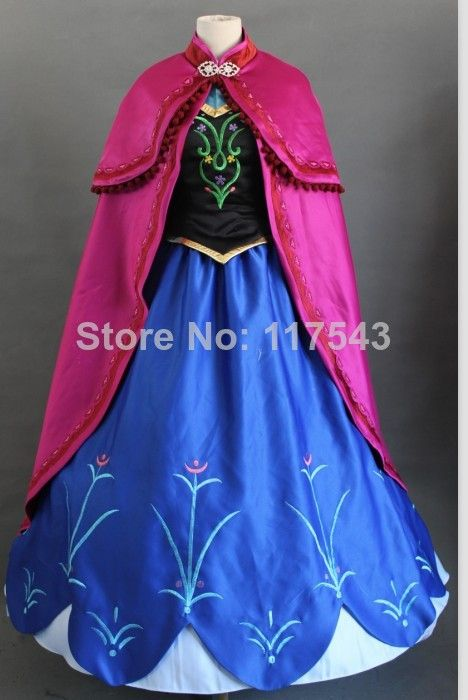 Cheap costume theme, Buy Quality dress hair directly from China dresses mom Suppliers: Frozen Cosplay Costume Free Shipping Customized Princess Anna Dress in Movie Anna Frozen Costume Princess Anna Costume