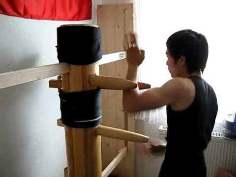 The Best Wing Chun Wooden Dummy Techniques you will ever see - YouTube