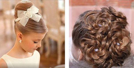 Детские прически на свадьбу для девочек фото