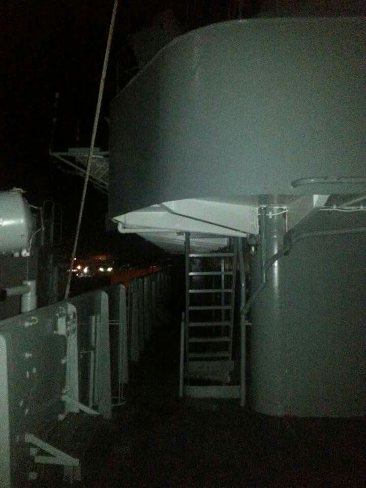 Original photo of the Appirition taken by my Gf @sherrianncarroll aboard the USS SALEM in Massachusetts.