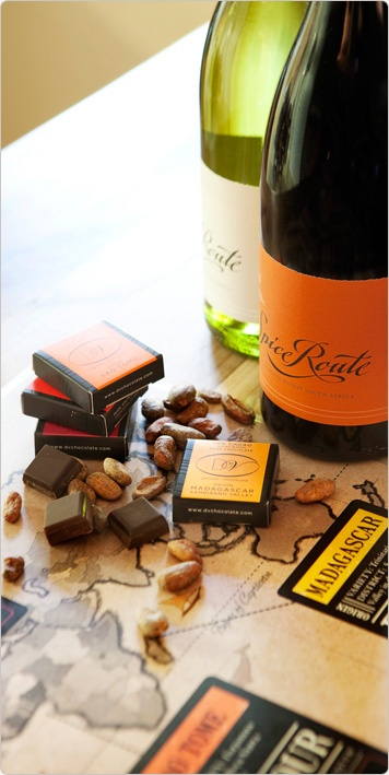 The Spice Route, just outside Paarl.  Chocolate and wine pairing