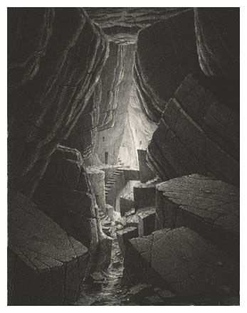 Gerard Trignac; Les villes invisibles, Sans titre 14, etching