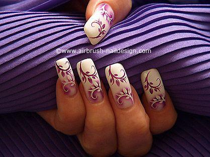 Decoración en uñas con aerógrafo - Aerografía Motivo 070