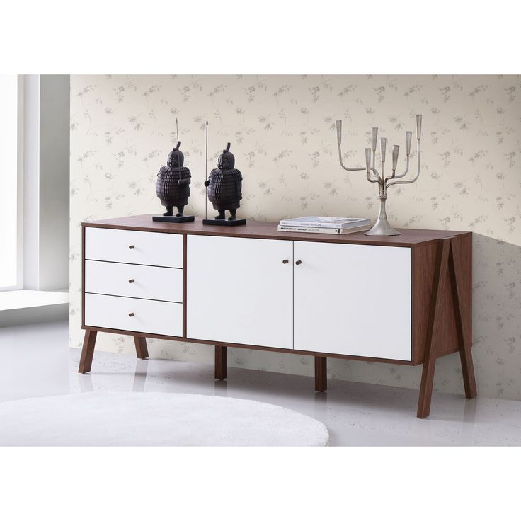 Highlight the handsomely modern feel of your space with the superior storage and Scandinavian style of the Harlow Sideboard Cabinet.