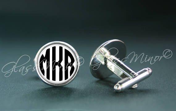 Monogram Cufflinks, Personalized Cufflinks, Custom Cufflinks, Initials Cufflinks, Groomsmen Usher, Wedding Cufflinks, Anniversary Gift