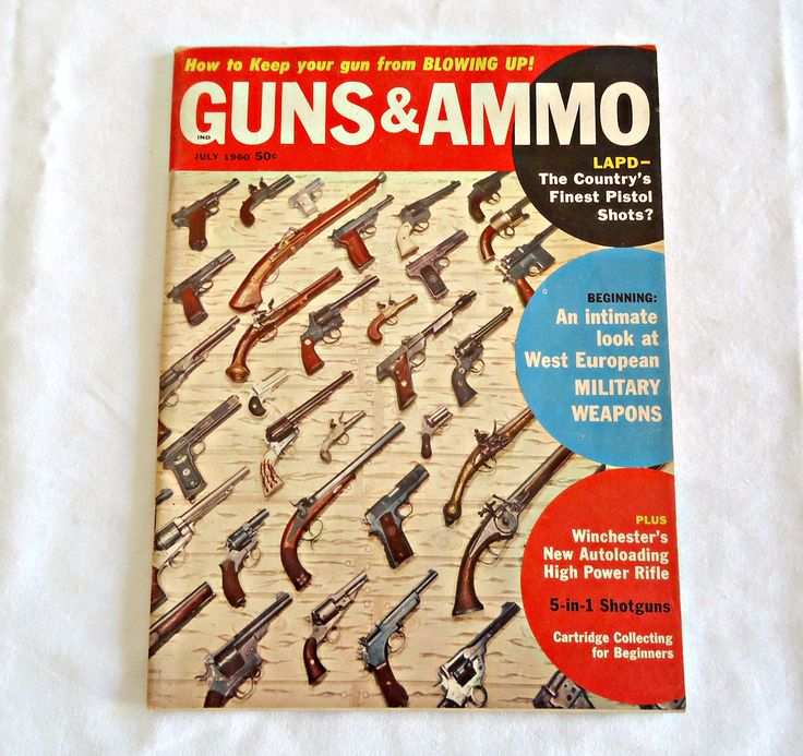 Guns and Ammo Magazine 1960 July Edition Vintage by TreasureCoveAlly on Etsy