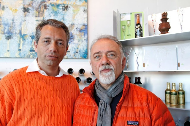 "On Wednesday, January 4, 2012, Wine by the Bay welcomed its first ""VIP"" - Giorgio Faletti, well-known Italian actor, writer, and singer-songwriter."