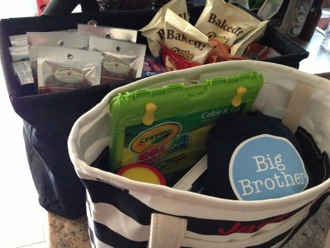 Big brother/sister bag for the hospital
