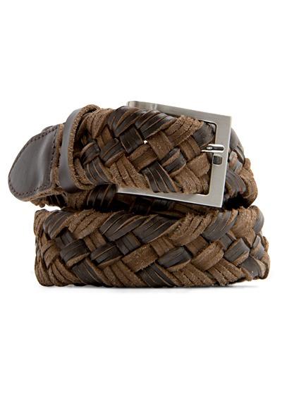 Accesorios de tendencia - Cinturón de cuero trenzado