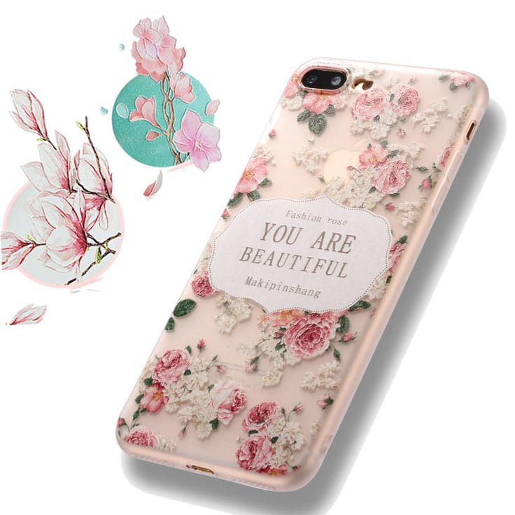 Bakeey™ 3D Relief Frosted Printing Fresh Flower Silicone Soft TPU Case for iPh…