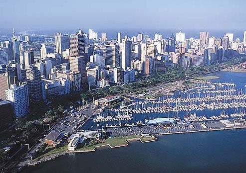 Durban Yacht mall. Millions of rands worth of sail boats sit in the Durban Yacht mall.