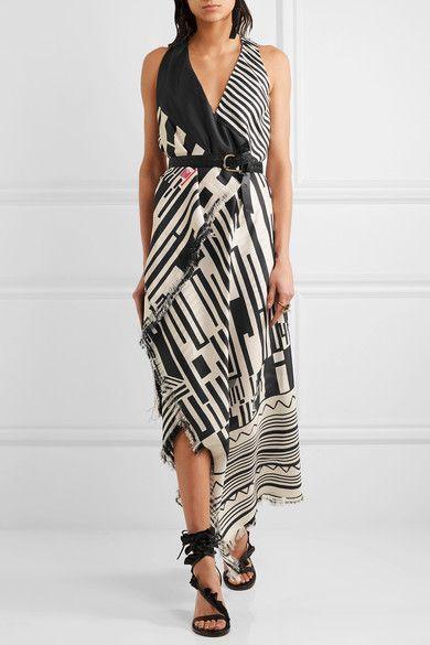 Etro - Printed Silk Maxi Dress - Black - IT46
