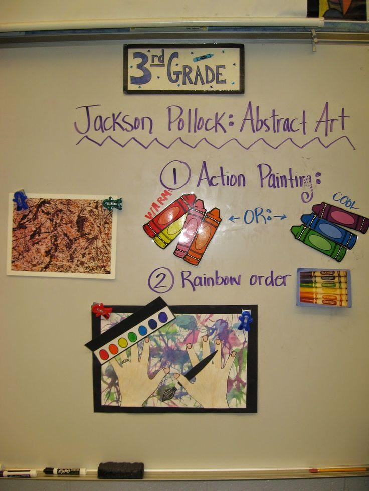"Jamestown Elementary Art Blog: 3rd Grade ""Action Jackson"""