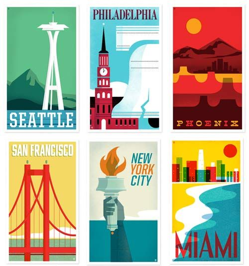 #Philly and other travel posters by @TheHeadsofState — great color! #design #inspiration