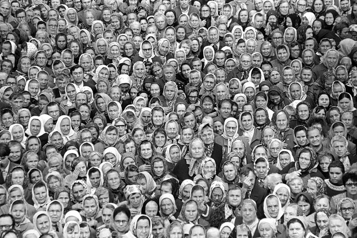 Farit Gubaev.  First service in Peter and Paul cathedral. Tatarstan, Russia. Kazan. 1990  [::SemAp FB || SemAp::]