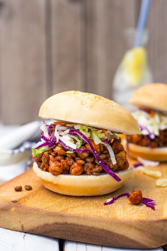 Vegetarian Sloppy Joes with Lentils and Chickpeas
