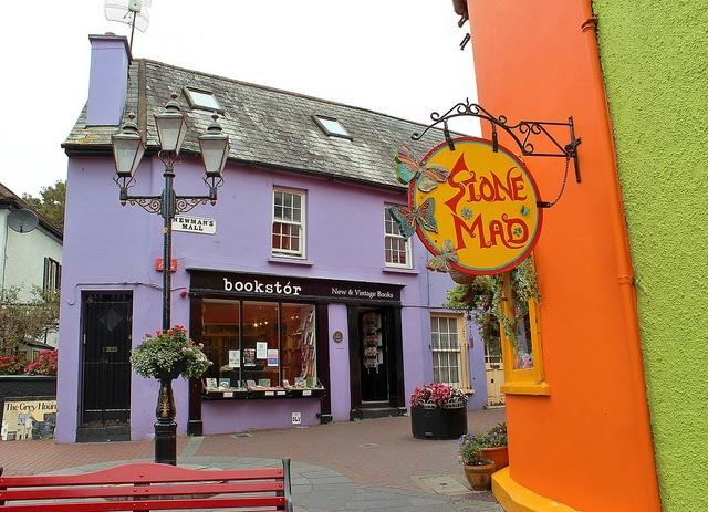 colorful bookstore in Kinsale Ireland