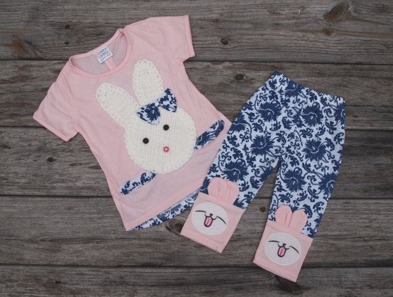 This outfit from Knock Knock Childrens Closet comes with a top featuring the cutest bunny rabbit ever! $21 with free shipping!