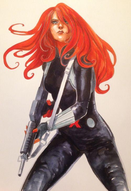 Black Widow by Stephanie Hans