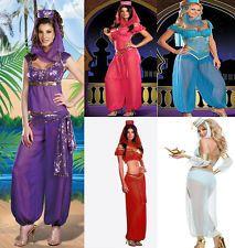Jasmine Aladdin Princess Adult Costume Fancy Dress Arabian Bollywood Belly Dance