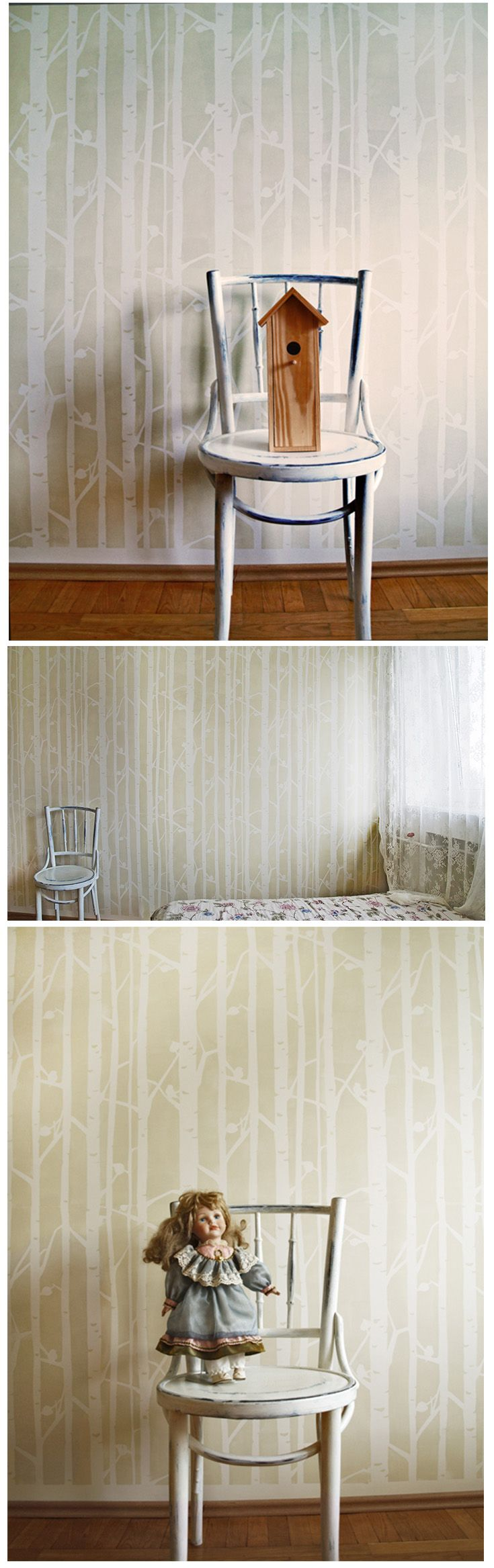 159 best forest walls images on pinterest photo wallpaper scandinavian wall stencils by stencilit amipublicfo Gallery