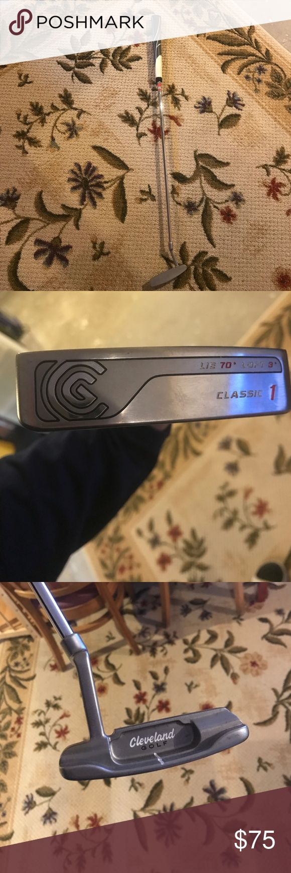 Cleveland putter with super sized Winn grip Cleveland golf putter, with super sized Winn grip, excellent condition, barely used. Cleveland Golf Other