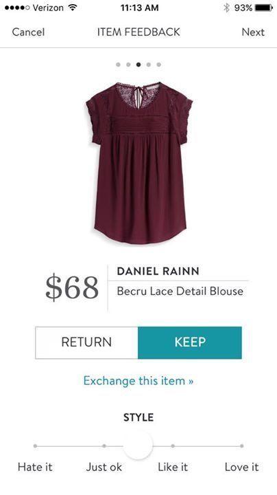 Daniel Rainn Becru Lace Detail Blouse