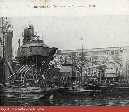 Central Granary at Millwall Docks, c1920