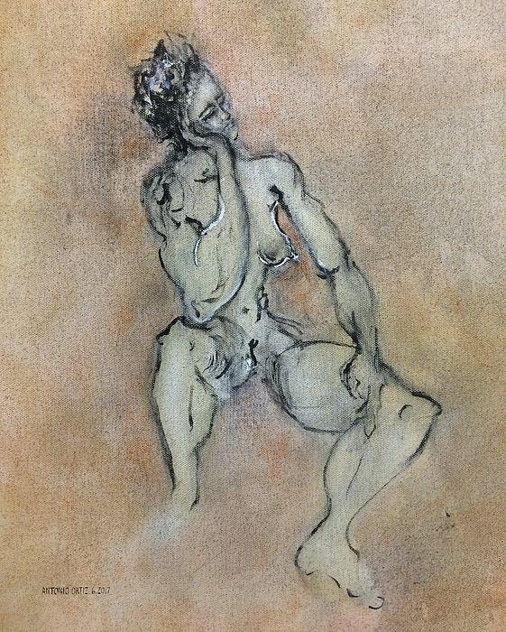 title - Sexy, Strong, Sleepy (oil on canvas). AntonioOrtiz.com , nyc.  #female #nude #egonshiele #gustavklimt #picasso #vangogh #davinci #contemporaryart #antonioortiz #painting #oilpainting #investmentart #nyc #nycart #nycartist #lifedrawing #femalenude #gagosian #zwirner #zwirnergallery #aliceneel