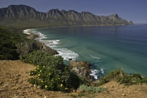 Coastline along the Kogelberg by Woozie on Dreamstime.com
