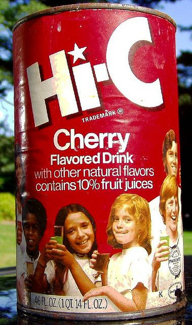I drank hundreds of gallons of Hi-C straight out of the can.  Big red drink mustache.