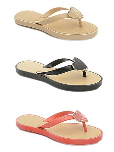 Ladies-Girl-Jelly-Heart-Flat-Flip-Flop-Toe-Post-Summer-Beach-Holiday-Sandal-Shoe