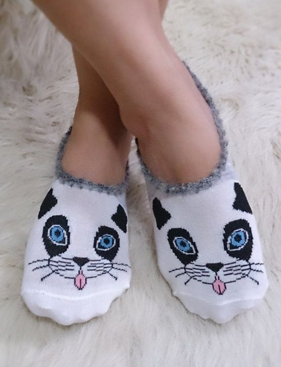 Christmas gifts cat socks yoga sport socks by AccessoriesByAtlas