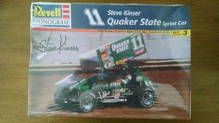 Revell Monogram Steve Kinser Quaker State Sprint Car 1:24 Model Skill 3 SEALED #Revell