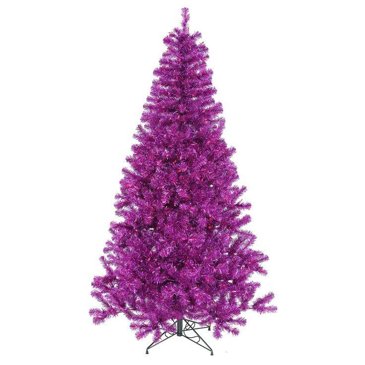 6' Vickerman B882061 Purple - Purple Christmas Tree