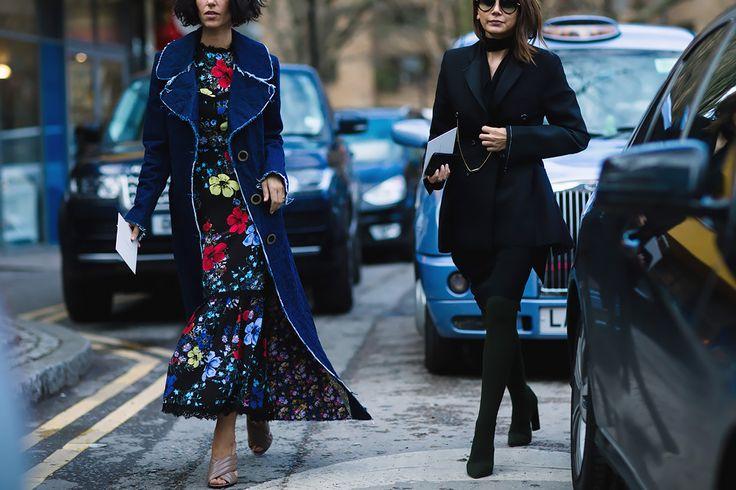 Уличная мода Лондоне осень-зима 2016-2017