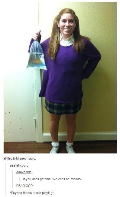 Best costume! Finding Nemo's Darla